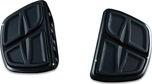 (Kuryakyn 7613 Motorcycle Accessory: Kinetic Mini Board Floorboards without Adapters, Gloss Black, 1 Pair )
