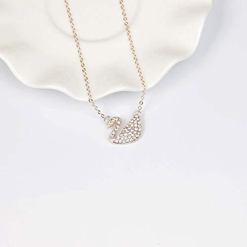RUN 4 Pcs Multi-Colored Small Swan Pendant Lavicle Chain Necklace Jewelry