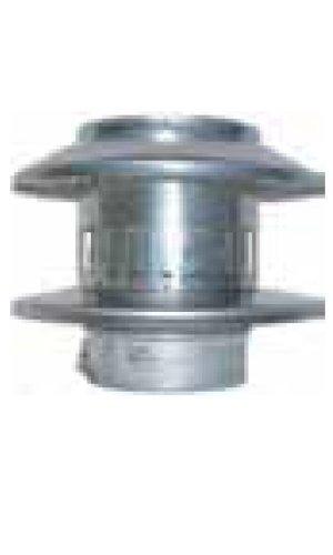 Noritz RC5 5-Inch Diameter Rain Cap Stainless Steel Single Wall Venting