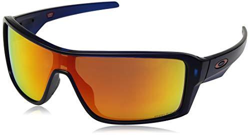 Oakley Ridgeline - anteojos de sol rectangulares de iridio no polarizadas, color azul mate translúcido, 0 mm
