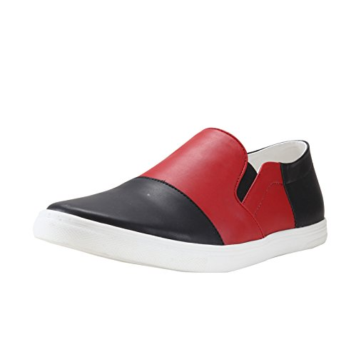 864902635b4 Franco Leone Men s Black and Red Loafers and Moccasins - 6 UK India (40
