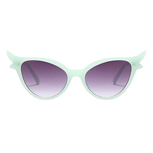 Occhiali Sexy Design DonneRetro Per Sole Classico Da Cornice Occhio Uv400 Di Hzjundasi Verde grigio Lenti Gatto nNym0wv8O