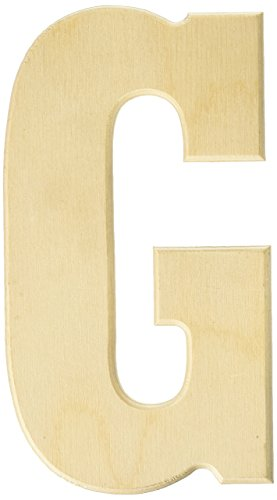 MPI MDF5-L107 Baltic Birch University Font Letters and Numbers, 5-Inch, Letter G]()