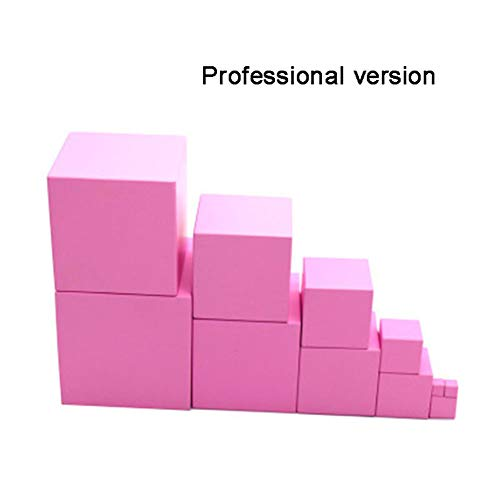 PinShang Christmas Toy Pink Montessori Wooden Blocks Tower Building Puzzle Toy Wooden Shape Stacking Toy Math Early Educational Toy from PinShang