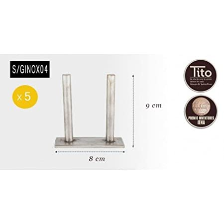Tito Solutions Caja de 5 Grapas de Acero Inoxidable Nº4 de ...
