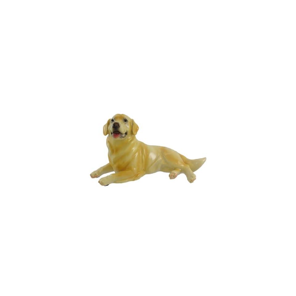 Golden Retriever Dog Statue Figure 9 Inches Long