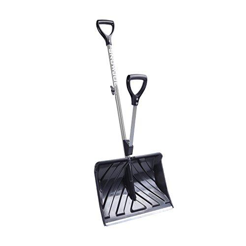 Snow Joe SHOVELUTION SJ-SHLV01-GRY 18-IN Strain-Reducing Snow Shovel w/ Spring Assisted Handle, Grey