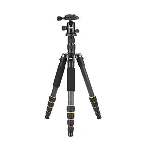 Opiersen Zomei Q666 Lightweight Portable Travel Camera Tripod Monopod Aluminum Alloy Ball Head for Digital SLR DSLR Camera