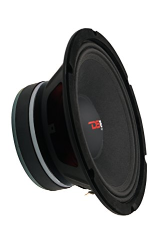 "DS18 PRO-X10MBASS Loudspeaker - 10"", Midbass, Red Steel Basket, 800W Max, 400W RMS, 8 Ohms - Premium Quality Audio Door Speakers for Car or Truck Stereo Sound System (1 Speaker)"