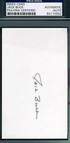 JACK BUCK PSA DNA COA Autograph 3x5 Signed Index Card