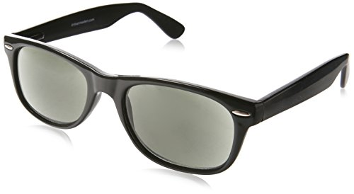 Dr. Dean Edell SLR Black Wayfarer Bifocal Reading Sunglass, +2.50, 1 - Sunglasses Dr Bifocal Edell Dean