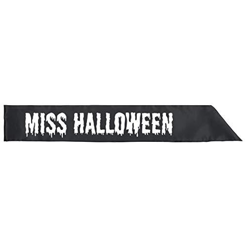 Miss Halloween Costume Sash: Adult Satin Party Sash]()