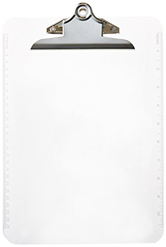 Sparco Transparent Plastic Clipboard SPR01860