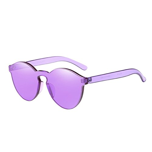 Letdown Women Integrated UV Candy Colored Sunglasses - Candy Hard Sunglasses