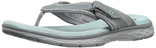 Grey Action Leather (Dr. Scholl's Women's Anna Thong Slide Sandal, Grey Action Leather, 8 M US)