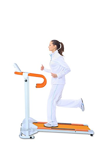 (NEW!!!) Auwit AUW-500R Series Electric Motorized Folding Treadmill With Built-in Speakers For Music Playback (Orange, 600W / 110V 60Hz)