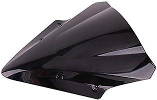 KEMIMOTO Fits 2017 Kawasaki Ninja 650 Windscreen Windshield Motorcycle Black VicsaWin