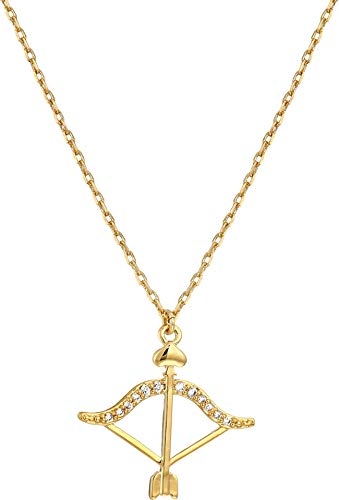 Kate Spade New York Women's Celestial Charm Sagittarius Pendant Necklace Clear/Gold One Size ()