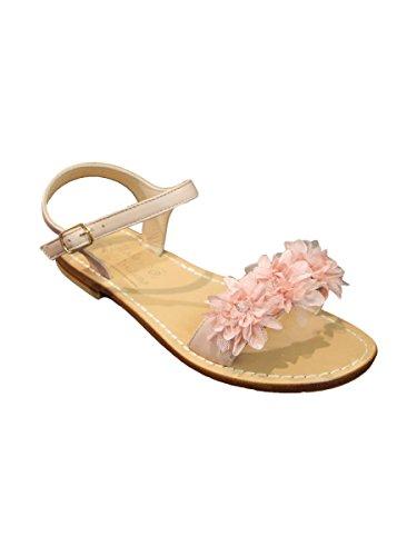 Con Sandalo Positano Rosa Fiori Cuoio Fascia Mainapps In Moda A ZUqAOZ