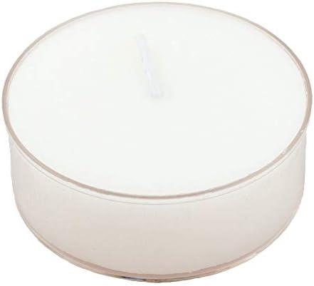 Pritogo Maxi Bougies chauffe-plat avec étui en plastique XXL, blanc [36 pièces] Ø 5,8 x 2,2 cm, sans suie, sans parfum