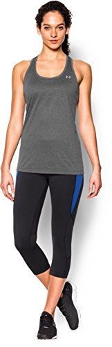 Armour Under Solid Canottiera carbon Donna Grigio Tech Heather Tank Metallic Silver dtrIwgqrx