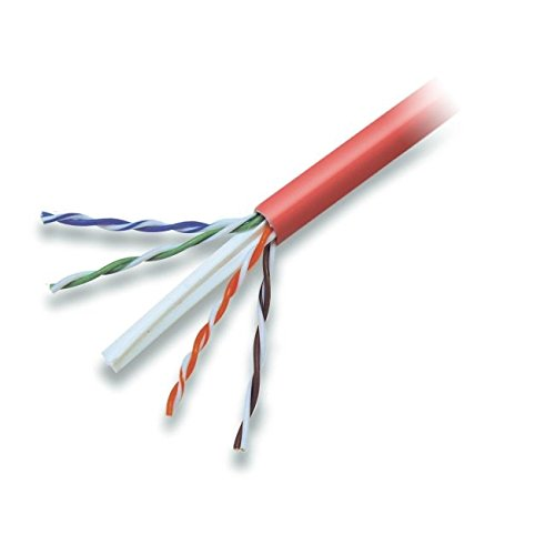 - Belkin Components A7L704-1000RD-P CAT6 Solid Bulk Cable, Plenum (Red)