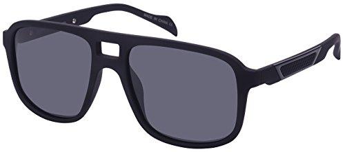 Edge I-Wear Polarized Flat Top Aviator Sunglasses 570954TT-P-1(BLK) (Sunglasses Plastic Tone Two Brown)