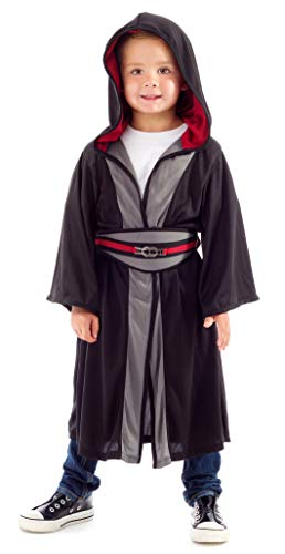 Little Adventures Galactic Villain Hooded Robe with Belt - Size Medium Age 3-5
