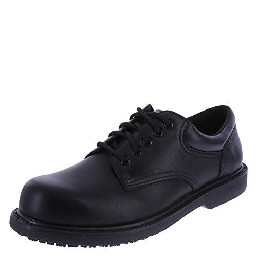 (safeTstep Blk Blk Men's Slip Resistant Manager Oxfords 11 Regular)
