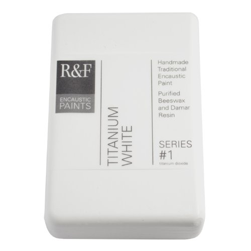 R&F Encaustic 333ml Paint, Titanium White R&F Handmade Paints 1210