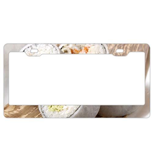 Eletina Star Turtle Turtle Gloss , Artichoke Lemon Fruit Scarf License Plate Frame/Inspired License Plate Frame Waterproof Mental, Powder -