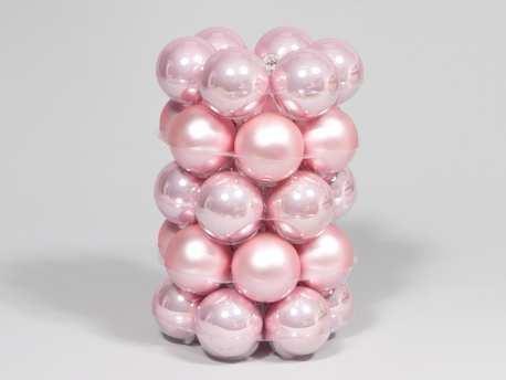 Christbaumkugeln Rosa.Amazon De 30er Packung Glaskugeln Weihnachtskugeln