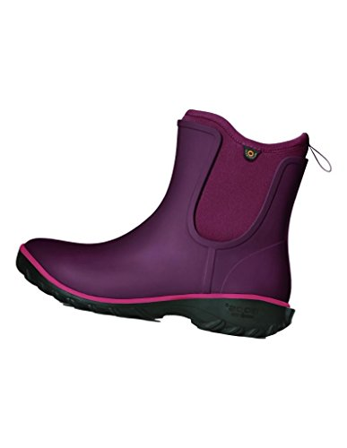 Bogs Womens Sauvie Slip Solid Rain Boot Wine qe81S