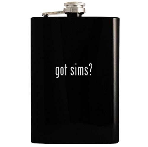 got sims? - Black 8oz Hip Drinking Alcohol Flask
