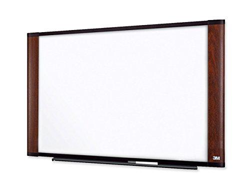 "CLASSYTEK 3M Wide Screen Style Melamine Dry Erase Board - 72"" (6 ft) Width x 48"" (4 ft) Height - Melamine Surface - Mahogany Frame - 1 Each"