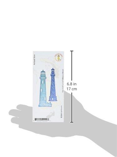3,5x 3,8cm Mehrfarbig Notions Marketing B384 Cheery Lynn Designs Lighthouses andere