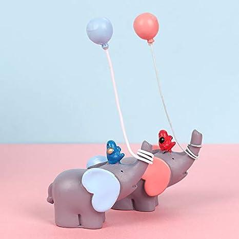 per matrimonio 2 pezzi UPKOCH Decorazione per torta a forma di elefante in resina festa di compleanno