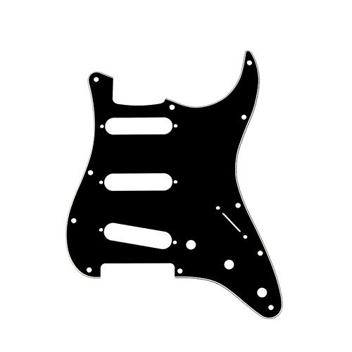 Musiclily 3Ply SSS 11 Holes Strat Electric Guitar Pickguard Scratch Plate Pick Guards for Fender USA/Mexican Made American Standard Stratocaster Modern Style Guitar Parts, ()
