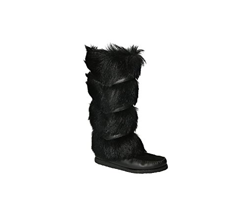 Saint Laurent Damen 404652AYA101000 Schwarz Haar Stiefel