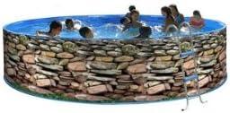 TOI - Piscina desmontable redonda decorada modelo muro - 450x90 ...