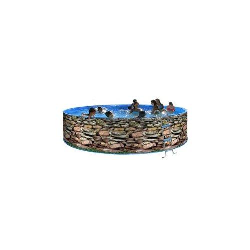 TOI - Piscina desmontable redonda decorada modelo muro - 350x90 ...