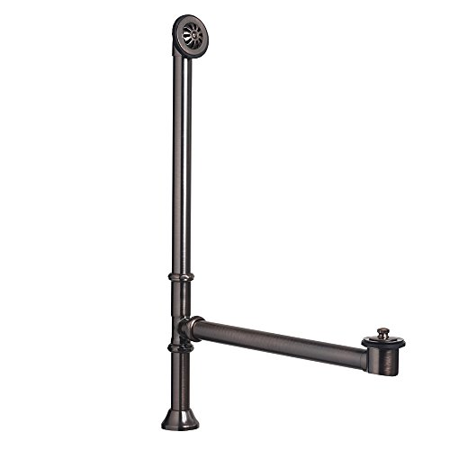 Sinkology SDT101-AC Classic 1-1/2 In. Od Brass Lift & Turn Bathtub Drain And Overflow Kit In Oil-Rubbed Bronze Finish