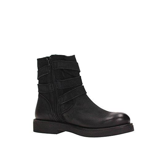 Inuovo Damen Lasuperba Biker Boots Schwarz (Lavato Black)