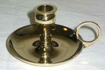 """Brass Chime Candlestick Candle Holder for 1/2"""" Diamater Candles"""