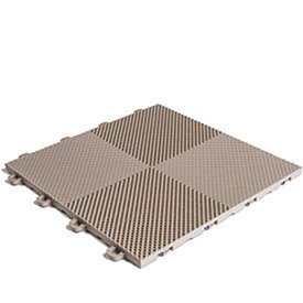 (BlockTile B2US5130 Deck and Patio Flooring Interlocking Tiles Perforated Pack, Beige, 30-Pack)