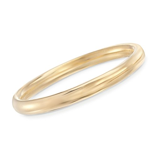 Ross-Simons Italian Andiamo 8mm 14kt Yellow Gold Bangle Bracelet