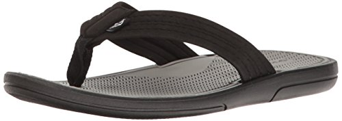 Dockers Men's Thomas Beach Walk Sandal Flip Flop, Black, 12 US/12 M US by Dockers