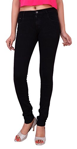 AIRWAYS Slim Fit Mid Waist Stretchable Jeans for Women's