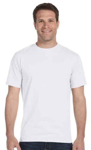 Hanes Comfort Soft Crew-Neck T-Shirt (Pack of 5),White,Large