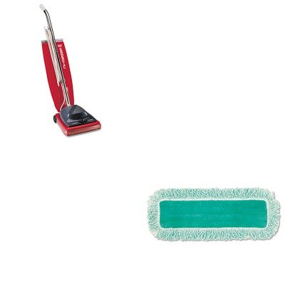 KITEUKSC684FRCPQ418GN - Value Kit - Rubbermaid Dust Pad w/Fringe (RCPQ418GN) and Commercial Vacuum Cleaner, 16quot; (EUKSC684F)